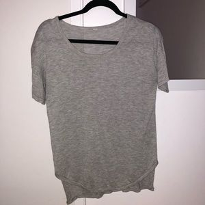 Grey lululemon short sleeve sweater